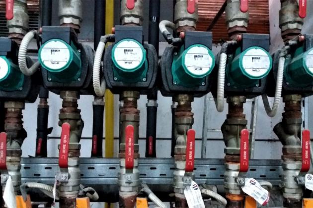 Boiler meters in a row